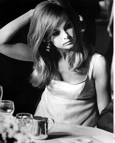 A film still doesn't lie: Jean Shrimpton embodies chic. Jean Shrimpton in Peter Watkins' Privilege, 1967, photographed by Philippe Le Telli...