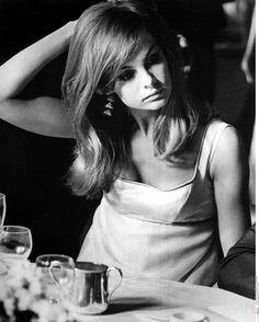 Jean Shrimpton in Peter Watkins' Privilege, 1967, photographed by Philippe Le Tellier/Paris Match via Getty Images