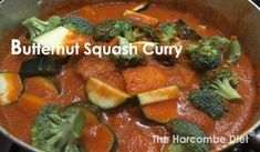 The Harcombe Diet® by Zoe Harcombe Carb Free Recipes, Diet Recipes, Butternut Squash Curry, Clean Eating, Healthy Eating, Vegetable Dishes, Veggies, Tasty, Meals