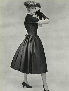 l'officiel de la mode 1953 cocktail dress Christian Dior