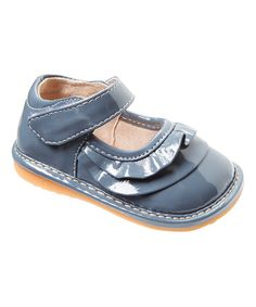 Another great find on #zulily! Gray Patent Ruffle Mary Jane #zulilyfinds