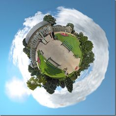 Little planet effect taking a panorama photo by Dan Arkle