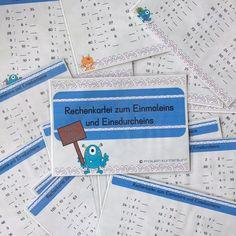 Und wieder sind ein paar Rechenkarteien fertig gewordenen. Viel Spaß damit! #rechenspaß #grundschule #grundschullehrerin #grundschulideen #rechnenmachtspaß #plusundminus #einmaleins #einsdurcheins