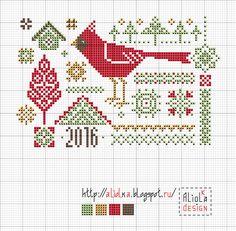My tvorilki *** Aliolka design: Sampler with Cardinal