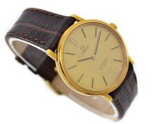 Omega Constellation Cal.1330 Gold Plated Quartz Midsize Watch SKU: 746