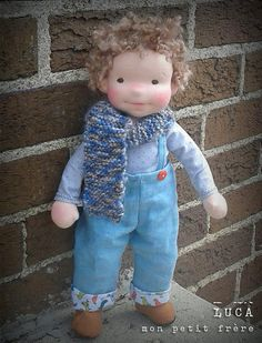 Luca-handmade doll by Mon Petit Frère by MonPetitFrere on Flickr.Trop mignon mon petit frère !