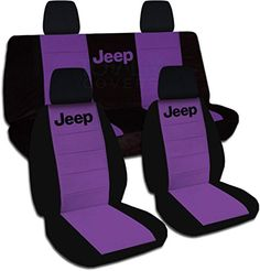 Jeep Wrangler JK (2011 to 2015) Two-Tone Seat Covers with Jeep: Black and Purple - Full Set (21 Colors Available) Designcovers http://www.amazon.com/dp/B00N2981O8/ref=cm_sw_r_pi_dp_jltyvb0RJN1YZ