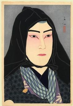 Nakamura Fukusuke in the role of Soshichi, a smuggler - Natori Shunsen