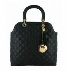 Lamb 1887 Verona Tote Handbag in Black Leather