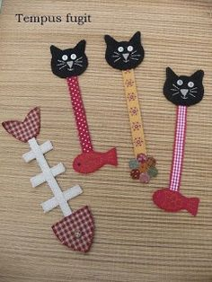 craft activities for adults diy projects / craft activities for adults + craft activities for adults diy projects + craft activities for adults creative Felt Bookmark, Bookmark Craft, Diy Bookmarks, Crochet Bookmarks, Fabric Crafts, Sewing Crafts, Sewing Projects, Diy Projects, Cat Crafts
