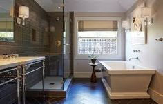 Image result for wood tile bathroom shower