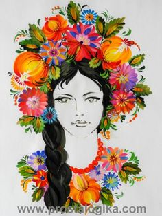 Об искусстве - Девушки в Петриковской росписи