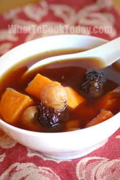 Chinese sweet potato with ginger soup