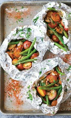 Potato and Green Bean Foil Packets | 12 Delicious Camping Recipes from…