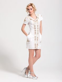 White Signet dress. Dresses, Vestidos, Dress, Gown, Outfits, Dressy Outfits