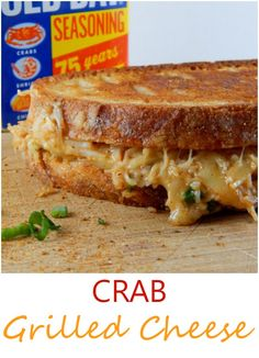 Absolutely in love with this super cheesy, gooey, and decadent crab grilled cheese. So buttery, tasty and amazing! - Cooking is Messy