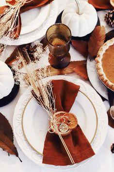 Dried Orange Thanksgiving Place Cards – DIY