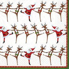 Ivory Christmas Can Can Christmas Caspari Paper Table Napkins 20 Pack 33 Cm Sq & Garden Christmas Drinks, Christmas Gifts, Christmas Ornaments, Christmas Paper Napkins, Wedding Cocktail Napkins, Paper Table, Paper Plates, Custom Invitations, Ivory