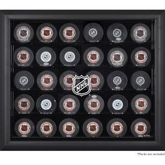 Features:  -Made of 1/8th inch acrylic and is wall mountable.  -Officially licensed by the National Hockey League.  -Front, sides and top are clear acrylic.  -Base and back of the display are black ac
