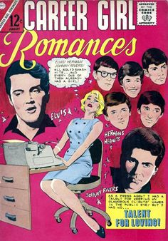 1967 (65 thru 69) - Adventure Through Inner Space • Career Girl Romances, comic cover, with Elvis,...