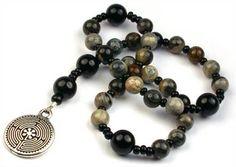 Full Circle Beads :: Hand Made Anglican Prayer Beads, Anglican Rosaries Beaded Jewelry, Beaded Bracelets, Grain Of Sand, Prayer Beads, Jasper, Prayers, Tattle Tale, Labyrinth Garden, Gemstones