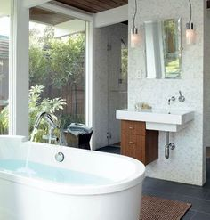 Small Bathroom Design Idea in Garden Space
