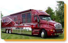 Peninsula Glass through Motion Windows offers a variety of custom RV windows and marine windows. Luxury Motorhomes, Rv Motorhomes, Bus Camper, Custom Big Rigs, Custom Trucks, Big Rig Trucks, Cool Trucks, Rv Truck, Motorcycle Camping
