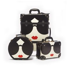 Alice + Olivia teamed up with SteamLine Luggage on a three-piece collection of super cute suitcases and travel bags — details Cute Suitcases, Travel Bag Essentials, Luggage Case, Vintage Luggage, Black Sunglasses, Alice Olivia, Vintage Inspired, Vintage Style, Black Leather