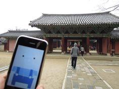In front of a sweet gate.  Gyeonggijeon / Jeonju, Korea
