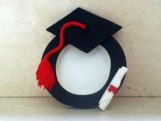 Portaretratos de mazapan de almendra graduacion