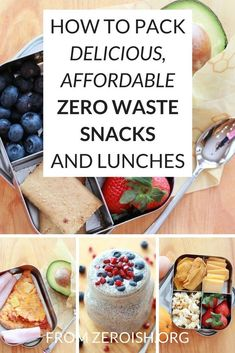 Low waste recipes How to Pack Delicious, Affordable Zero Waste Snacks and Lunches // Zeroish -- Boite A Lunch, No Waste, Travel Snacks, Organic Fruit, Meal Planning, Cooking, Eco Friendly, Plastic Waste, Plastic Bags