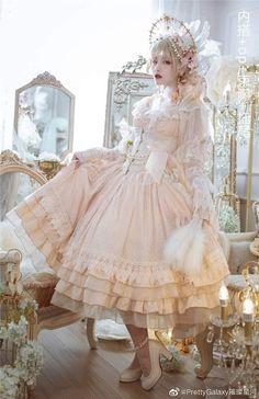 Pastel Goth Fashion, Quirky Fashion, Kawaii Fashion, Lolita Fashion, Cute Fashion, Fashion Outfits, Elegant Dresses, Pretty Dresses, Estilo Lolita