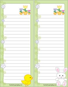 Stationary Printable, Printable Scrapbook Paper, Printable Planner, Free Printables, Diy Note Pad, Family Planner, Printable Recipe Cards, Stationery Paper, Grocery Lists