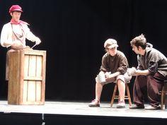 Imagen del espectáculo de teatro escolar en inglés Oliver Twist