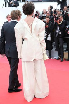 Actress Jeanne Balibar and actor Mathieu Amalric of 'Barbara' attends the 'Loveless ' screening during the 70th annual Cannes Film Festival at Palais...
