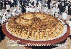 le plus grand couscous du monde a agadir Morrocan Food, Couscous, Camembert Cheese, Pie, Ethnic Recipes, Desserts, Agadir, Flat, Food