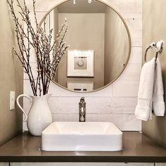 Neutral powder room featuring Hamptons. Thanks for sharing, @umbrellabirdfurniture! #Regrammed via @stikwooddesign