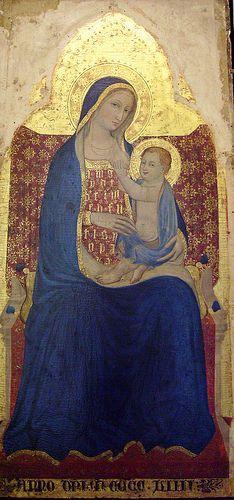 Maitre de Narrni (anonimo pittore umbro) - Madonna con bambino - c 1409 - chiesa di San Agostino di Narni