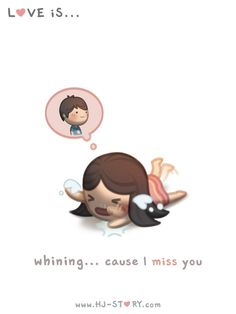 Check out the comic HJ-Story :: Whining (Girl ver. Hj Story, Love Is Cartoon, Cute Couple Cartoon, Cute Love Cartoons, Chibi Couple, Couples Comics, Anime Couples, Cute Couples, Cute Love Stories