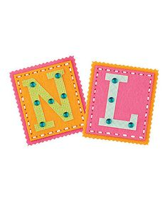 Take a look at this Initials Sew & Share Kit - Set of Three by American Girl Crafts on #zulily today! $14 !!