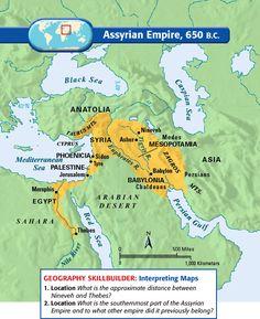 Assyrian Empire Map - Google Search