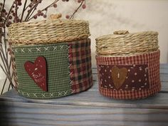 A little different and definitely cute! Fabric Crafts, Sewing Crafts, Lampshade Redo, Stitch Patch, Penny Rugs, Country Crafts, Patch Quilt, Primitive Crafts, Fabric Bags