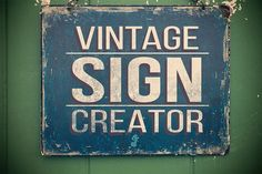 Posted by @newkoko2020 Vintage Sign Creator by Neo Ink Design on @creativemarket