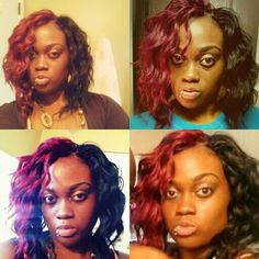 """Freetress braid loose deep 24"""" #1b/530 I divided the colors upon installation and cut the hair. These are crochet braids. #crochetbraids #freetress"""