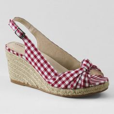 Red Knotted Espadrilles