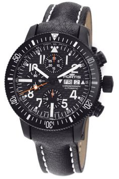 Fortis Review   Fortis Men's 638.28.71L B-42 Official Cosmonauts Automatic Chronograph Black Dial Watch By Fortis