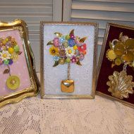 Vintage Jewelry HEART ART Assemblage Mixed by mypicketfencecottage