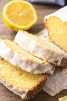 If you love the lemon desserts - then you need to try this Starbucks Copycat Lem.If you love the lemon desserts - then you need to try this Starbucks Copycat Lemon Loaf! It's buttery, moist, bursting with lemon flavor, and topped with swee Lemon Recipes, Baking Recipes, Cake Recipes, Freezer Recipes, Baking Desserts, Drink Recipes, Copycat Recipes Desserts, Recipies, Loaf Recipes