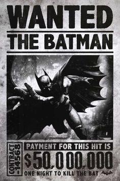 Batman Arkham Origins - Wanted Posters at AllPosters.com