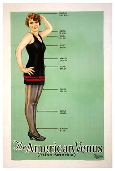 Original one-sheet of Fay Lanphier to promote The American Venus, (1926). Fay Lanphier is Miss Alabama and Miss America 1925 in the film.
